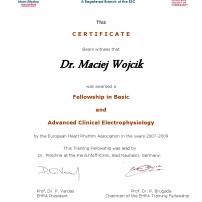 Stypendium naukowo-szkoleniowe EHRA/ESC